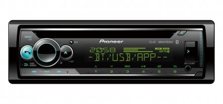 Pioneer DEH-S520BT смарт-ресивер 1 DIN, USB, без CD , Bluetooth , с процессором, 3 пары RCA выходов